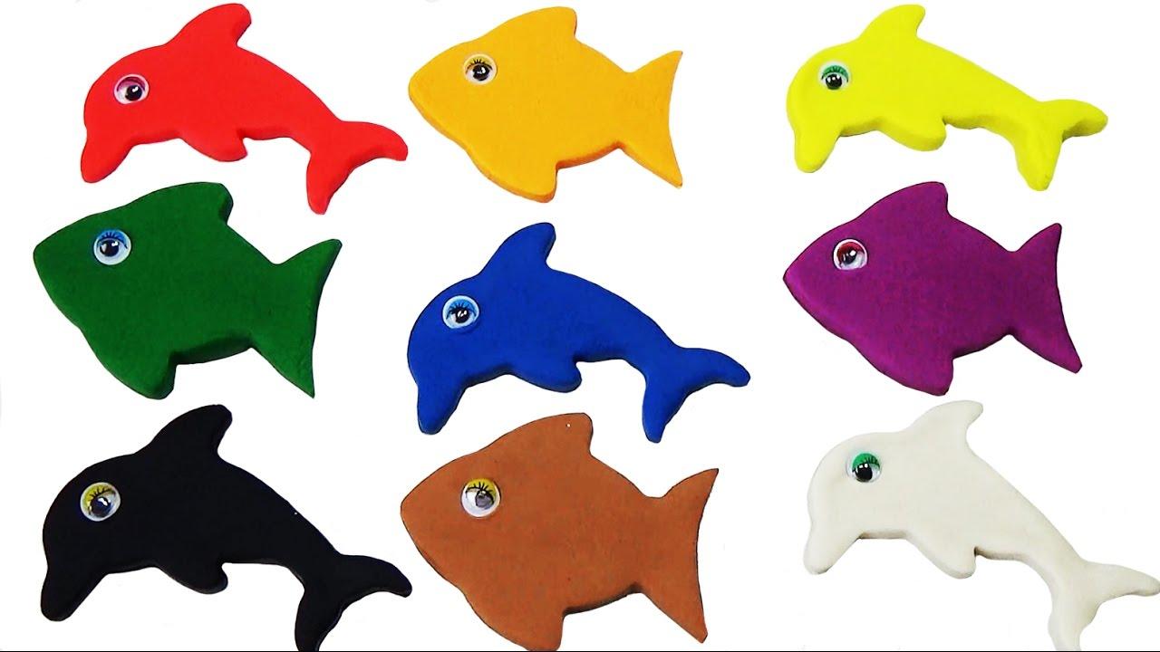 Los Colores con Play Doh - Peces de Colores - Videos Para Niños ...