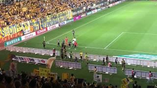 2018年8月19日に行われた、ベガルタ仙台VSガンバ大阪の試合後のサポータ...