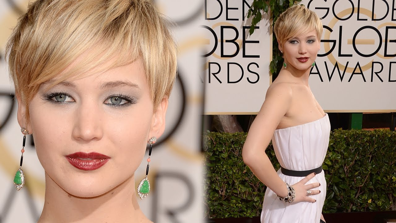 Jennifer Lawrence White Hot Golden Globes 2014