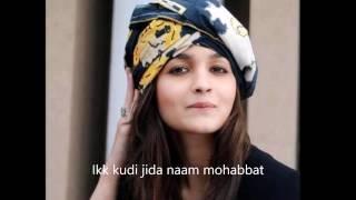 Song name : ikk kudi - live by alia bhatt lyricist late shri shiv kumar batalvi singers & diljit dosanjh music amit trivedi notice: i do ...