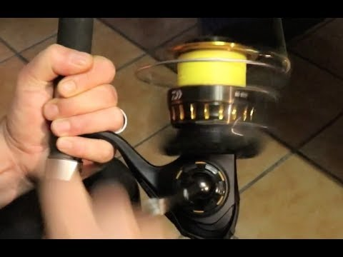 Asfn 2017 Spooling The Daiwa Bg 8000 Spinning Reel With Braid 1050m 48lb Youtube