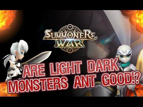 best light dark monsters summoners war