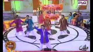 (zara dholki bajao) me & my group dance performance live on A.R.Y ZAUQ channel