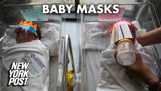 Face shields given to newborn babies to fend off coronavirus | New York Post