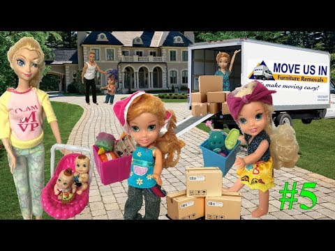 Anna and Elsa Toddlers Move to a New House Part 5! Moving - Unpacking! Bunk Beds! Family! Toys Dolls