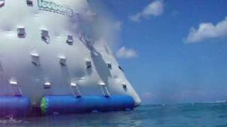 Jumping off an iceberg in Cozumel