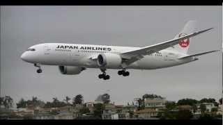 Japan Airlines Boeing 787 Dreamliner Inaugural Landing San Diego