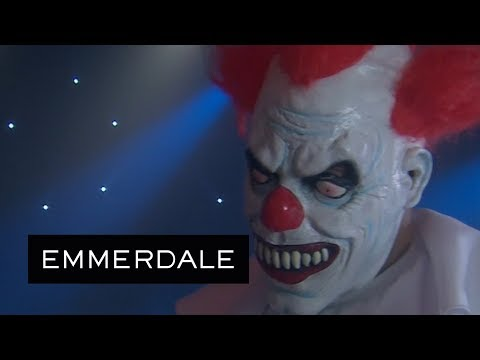 Emmerdale - Bear Wolf Saves Paddy from a Terrifying Clown