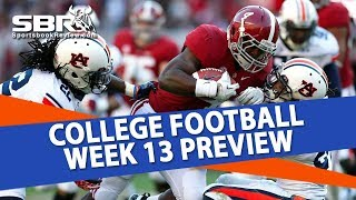 College Football Betting | Week 13 CFB Preview & Free Picks | SBR Round Table