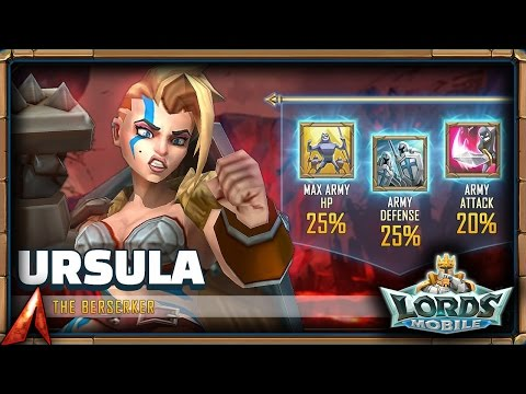 Lords Mobile New Hero Ursula The Berserker Review!