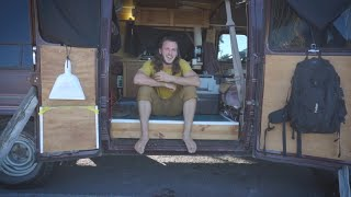 Tour of Dylan Magaster's Van. A Digital Nomads Converted off grid Camper Van.
