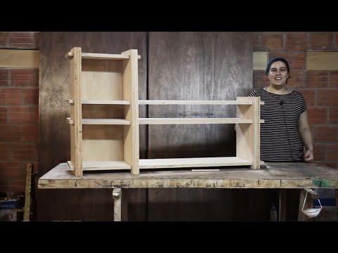 como hacer un rack de tv con multilaminado.
