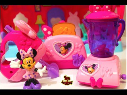 Minnie Mouse Bowtastic Kitchen Appliances Smoothie MakerToaster Mixer  Toys Academy  YouTube