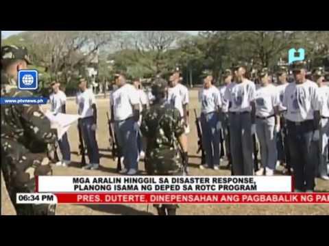 Mga aralin hinggil sa disaster response, planong isama ng DepEd sa ROTC program
