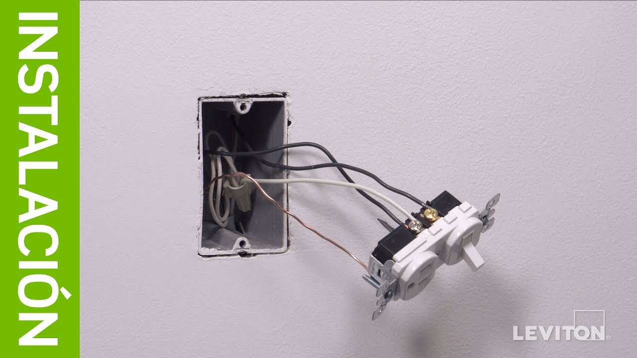 Leviton Instalacion Interruptor De Combinacion