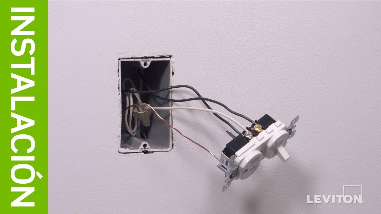 Leviton  Instalaci U00f3n  Interruptor De Combinaci U00f3n 5225