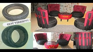 How to turn your old tire to stylish chair