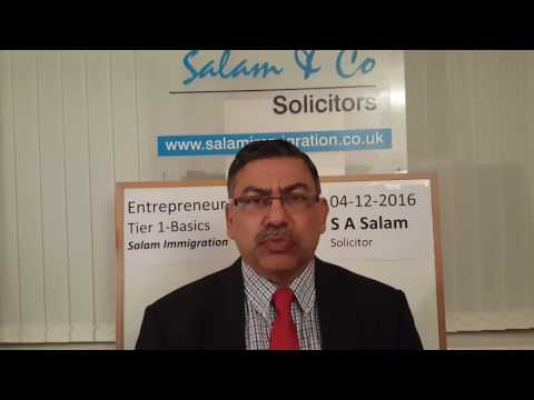 Tier 1 Entrepreneur Immigration Basics