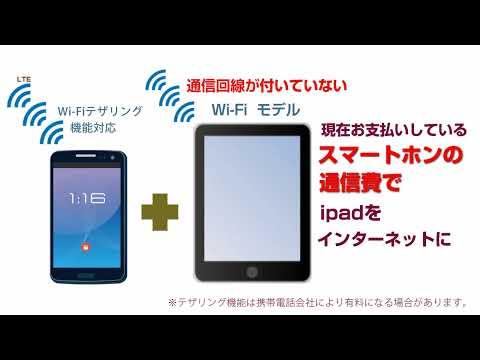 スマートフォンを使ってタブレットをインターネットに接続する方法