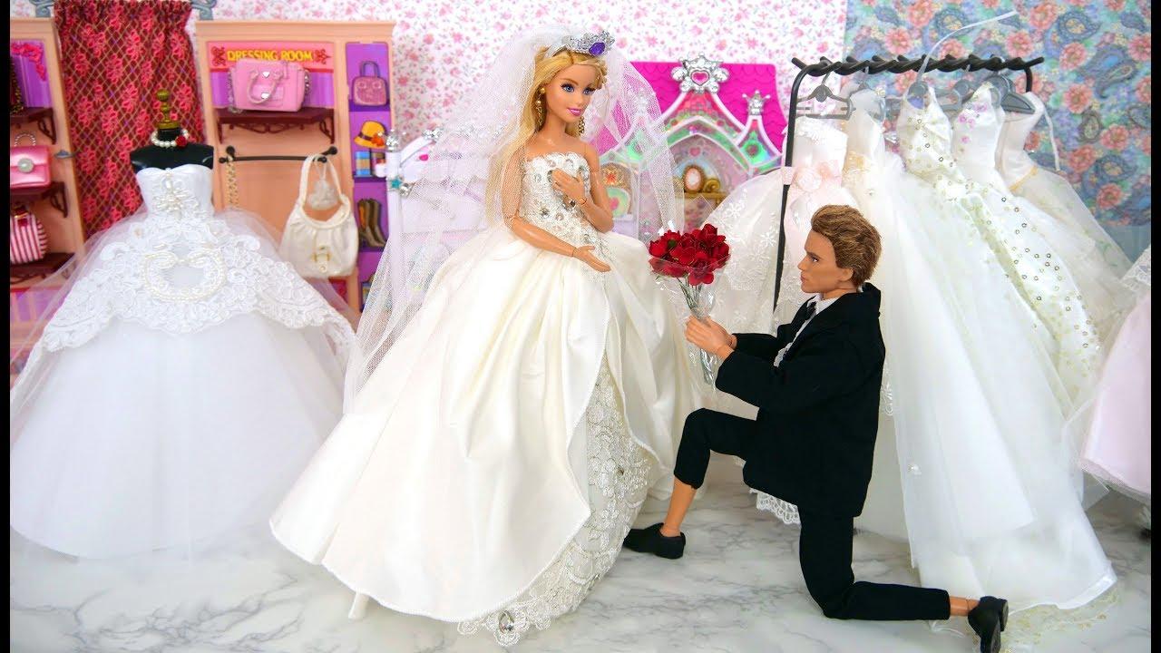 Bridal Shop for Barbie Doll Wedding Dress Barbie Puppe Brautkleid Boutique  de mariage Gaun pengantin