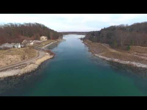 Drone Aerial - Pigeon Lake, Port Sheldon, MI - 4k HD
