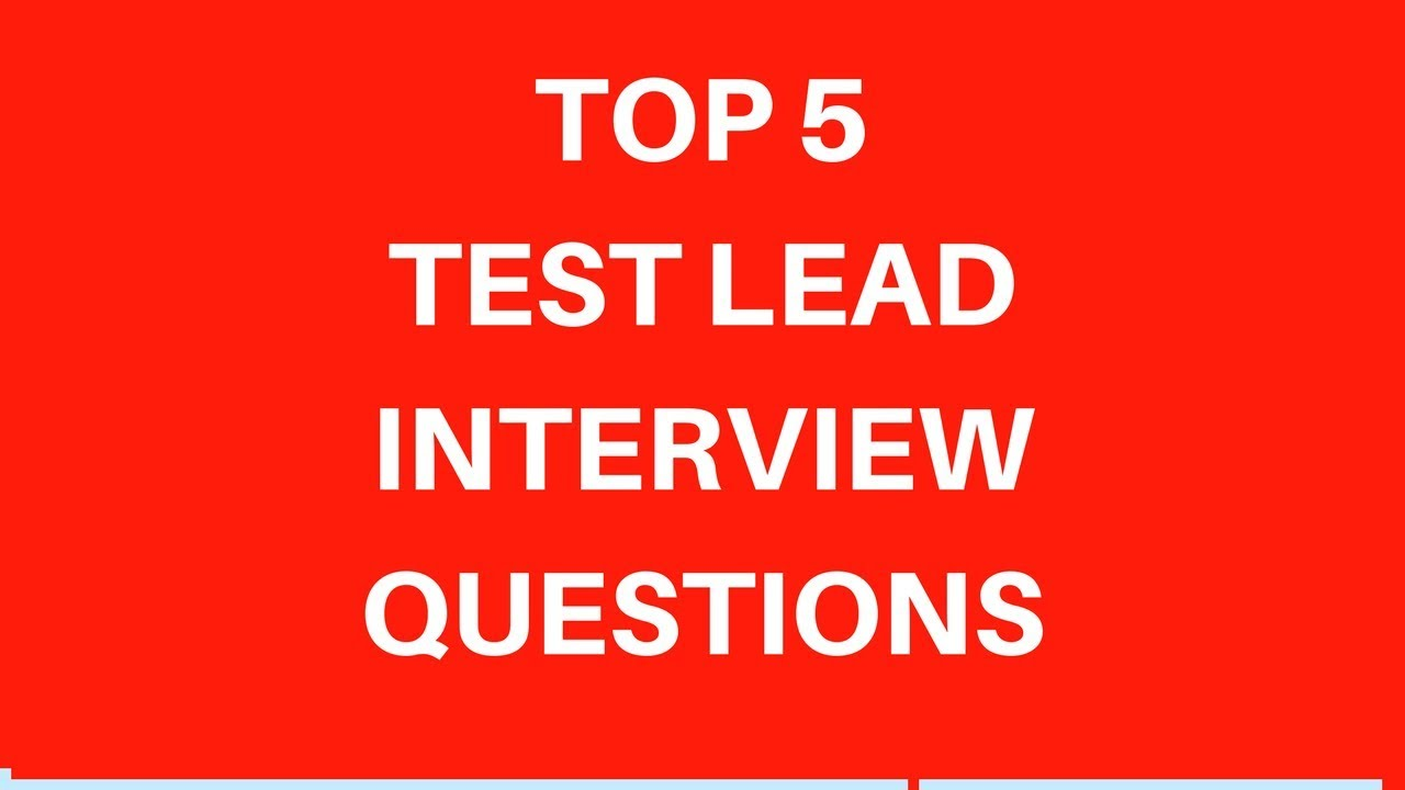 test lead interview questions pdf