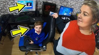 Mum Spending Money On Her Credit Card! Buying & Unlocking NEW Fortnite Pack For *6 YEAR OLD KID*