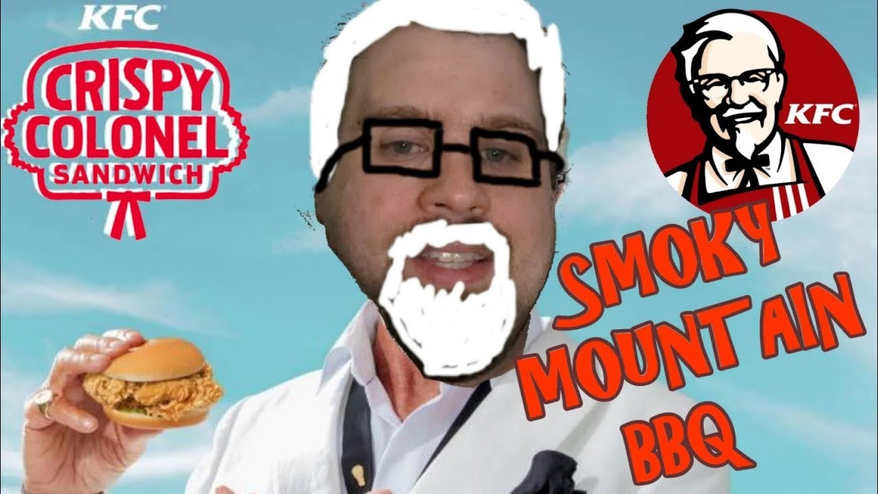 KFC Crispy Colonel Smokey Mountain BBQ Sandwich REVIEW - YouTube