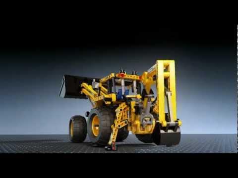 LEGO 8069 Technic Backhoe Loader Animation - YouTube