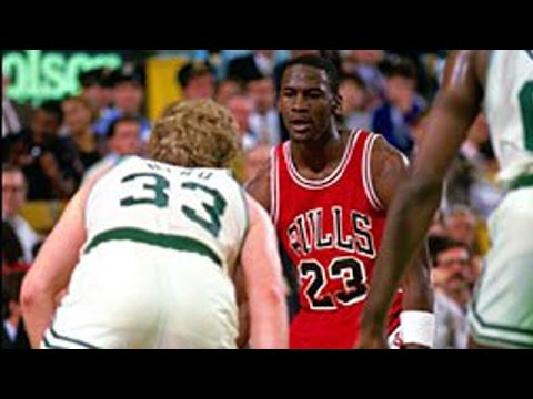 Larry Bird (44pts, 10reb) duels Michael Jordan (39pts, 8ast) 1988 (rookie Scottie Pippen)