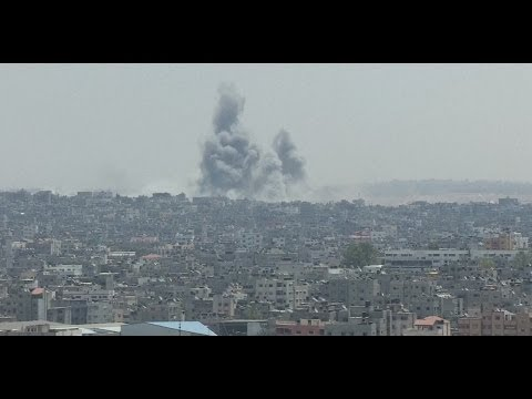 Gaza 'bombarded' as signs of cease-fire between Israel and Hamas fade - PBS NewsHour  - G3NGEltPeLY -