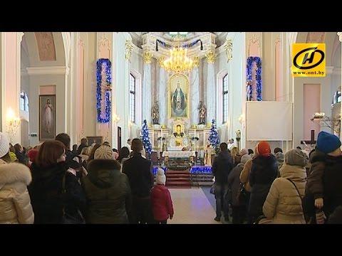 Праздничные службы проходят в костёлах Беларуси