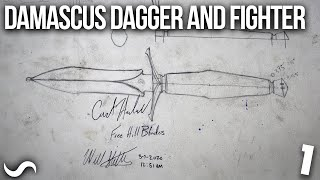 WILL MAKES A DAMASCUS DAGGER AND MORE!! PART 1
