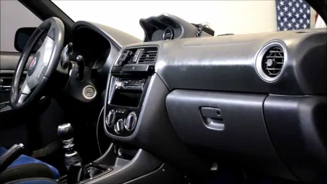 How To Remove The Dash In A 2004 Sti Youtube