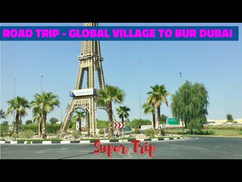 My Dubai Roadtrip , Global Village to Karama -Bur Dubai Enjoy ( Old Hindi Instrumental Songs )