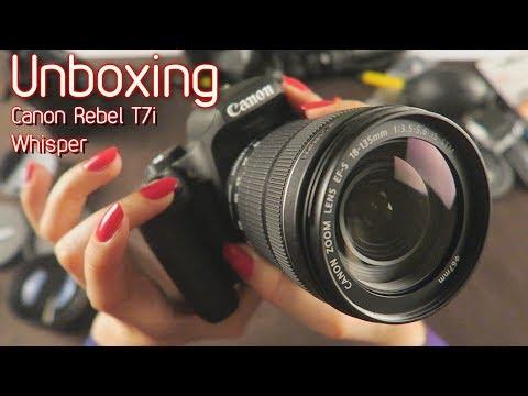 Whisper 📷 Unboxing Canon Rebel T7i 18-135mm 📷 ASMR