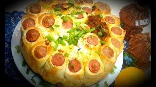 Безумно вкусный Пирог с сосисками и 3 разными начинками К УЖИНУ-удивитесь, как это просто!