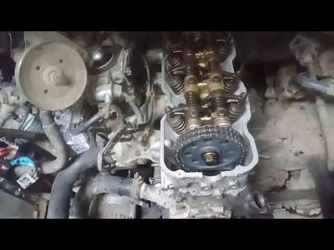 Установка ГБЦ на двигатель Z24 Nissan Terrano 1, протяжка ГБЦ и регулировка зазоров клапанов