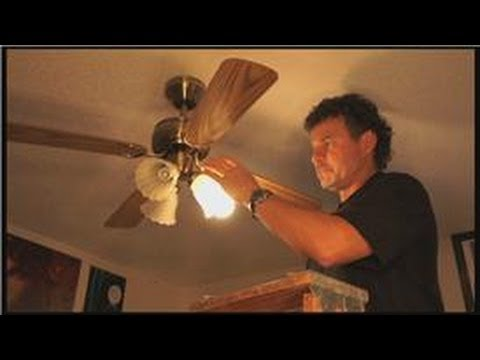 Electrical Home Repairs : How Do I Fix a Ceiling Light Fan? - YouTube