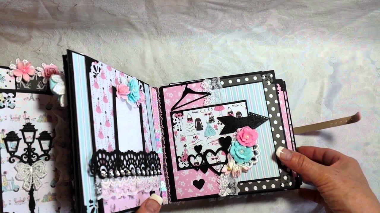 Sold Coco Style Parisian 6x6 Mini Album By Scrapbook Fashionista Designs By Rina