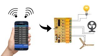 Bluetooth 8-Channel relay control ( Fan and Light ) board  (with Android App)