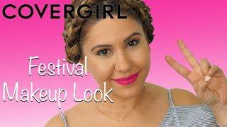 Festival Full Face Makeup Tutorial Using CoverGirl Makeup