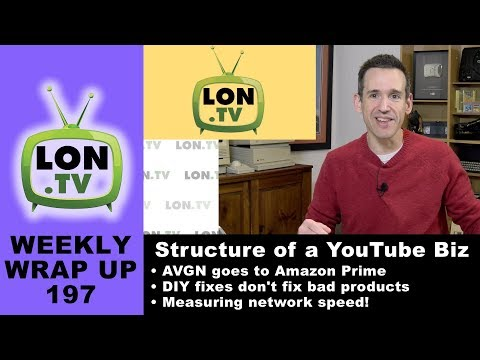 Weekly Wrapup 197 - Structuring your Youtube business, disclosing brand approvals, iPERF