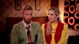 Charly Luske en Tanja Jess op rolschaatsen in Groeten uit 19xx
