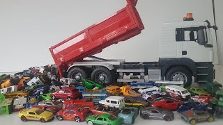 Transportation Vehicles For Children Dump Truck with so many Hot Wheels cars Video for Kids