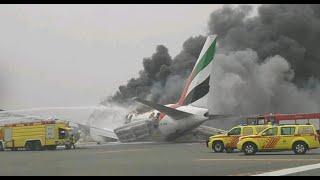 بالفيديو : لحظة اندلاع النيران في طائرة طيران الإمارات