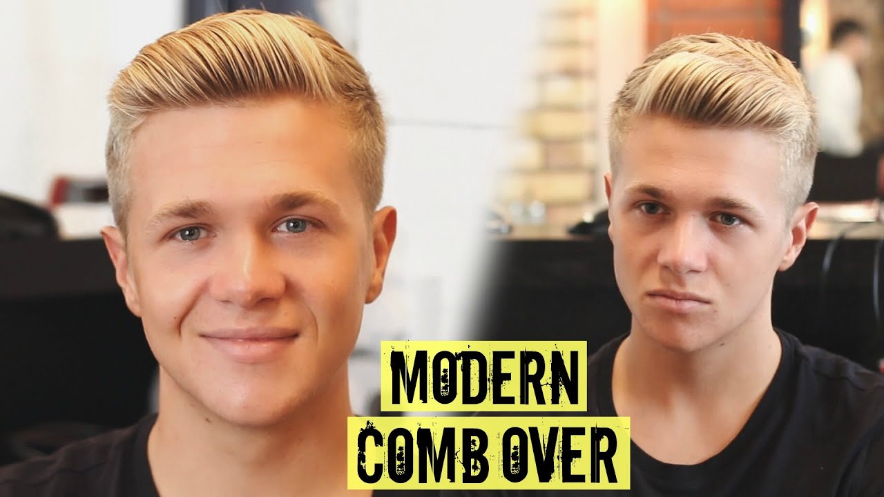 mens side part comb over haircut