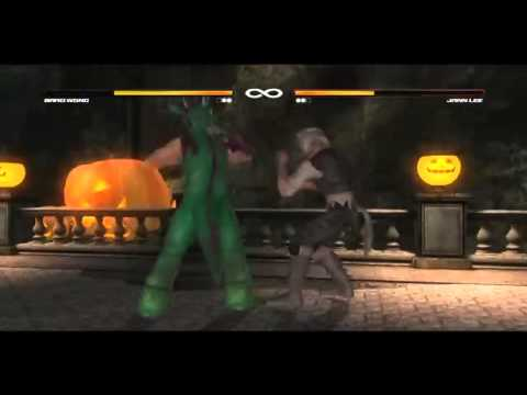 dead or alive 5 ultimate halloween jann lee vs brad wong