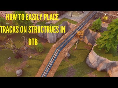How To Easily Place Tracks On Structures In Deliver The Bomb Missions - Fortnite Save The World