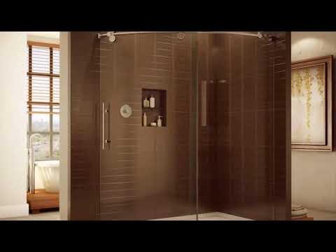 Modern Bathroom  Glass Door Shower